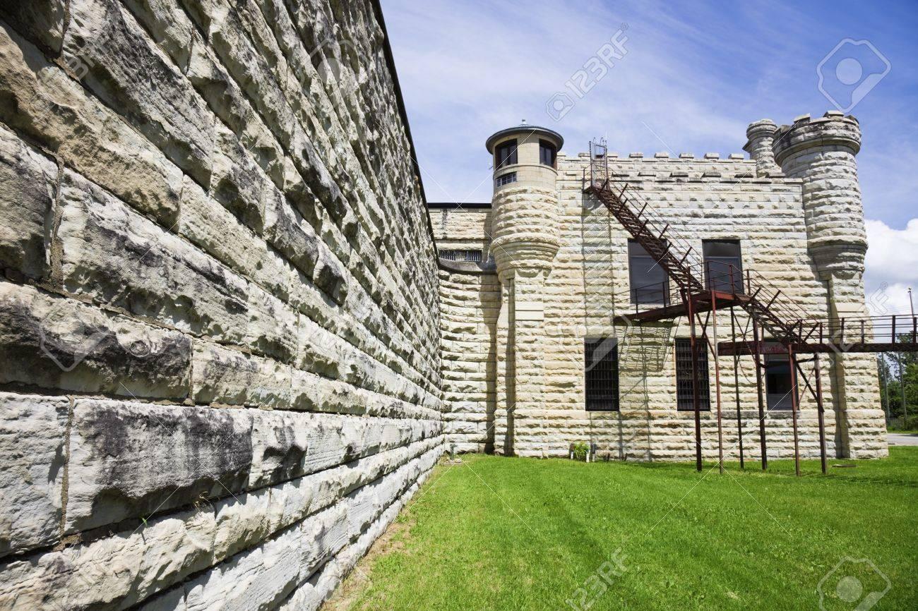 Walls of historic Jail in Joliet, Illinois - suburb of Chicago. Stock Photo - 7493413
