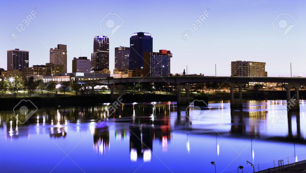 Evening in Little Rock, Arkansas. Stock Photo - 7836019
