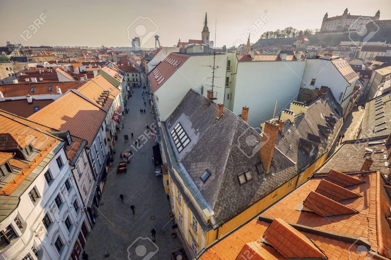791b72227 Bratislava panorama - aerial view. Bratislava, Slovakia. Stock Photo -  74299339