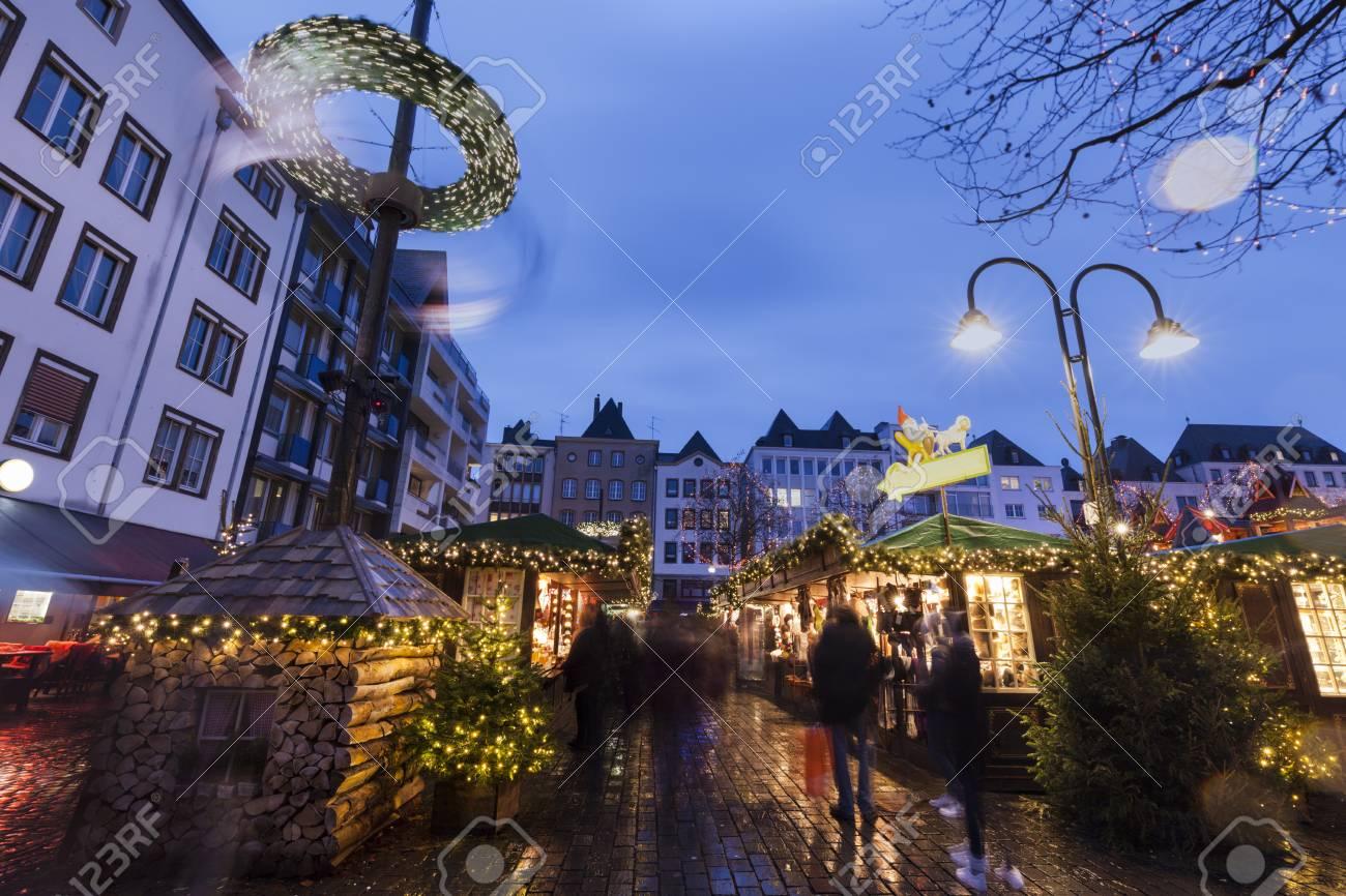Christmas Market In Cologne. Cologne, North Rhine-Westphalia ...