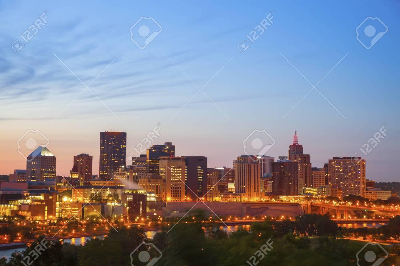 Panorama of St. Paul. St. Paul, Minnesota, USA. - 121186024