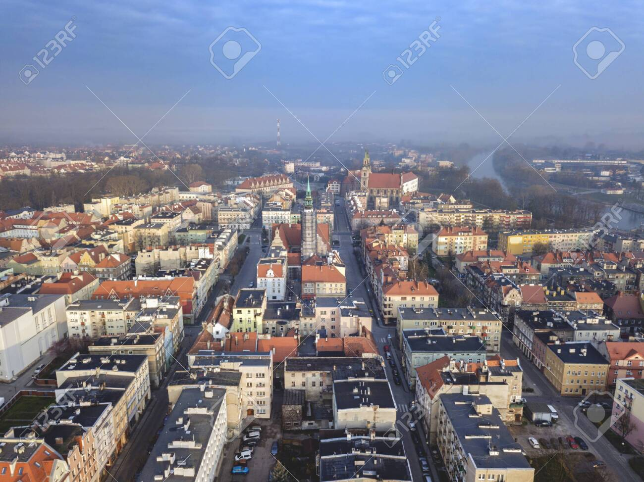 Panorama of Brzeg. Brzeg, Opole, Poland. - 146049359