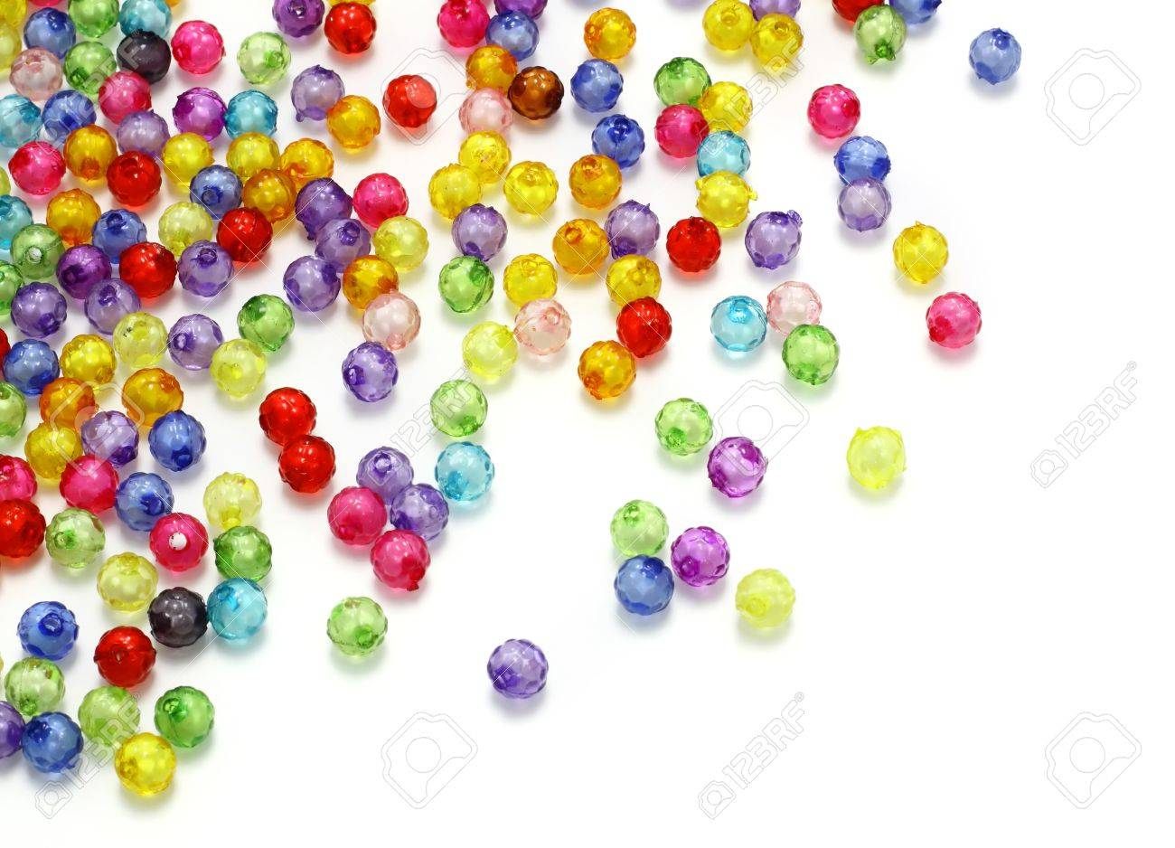 Colorful beads isolated on white background - 10295378