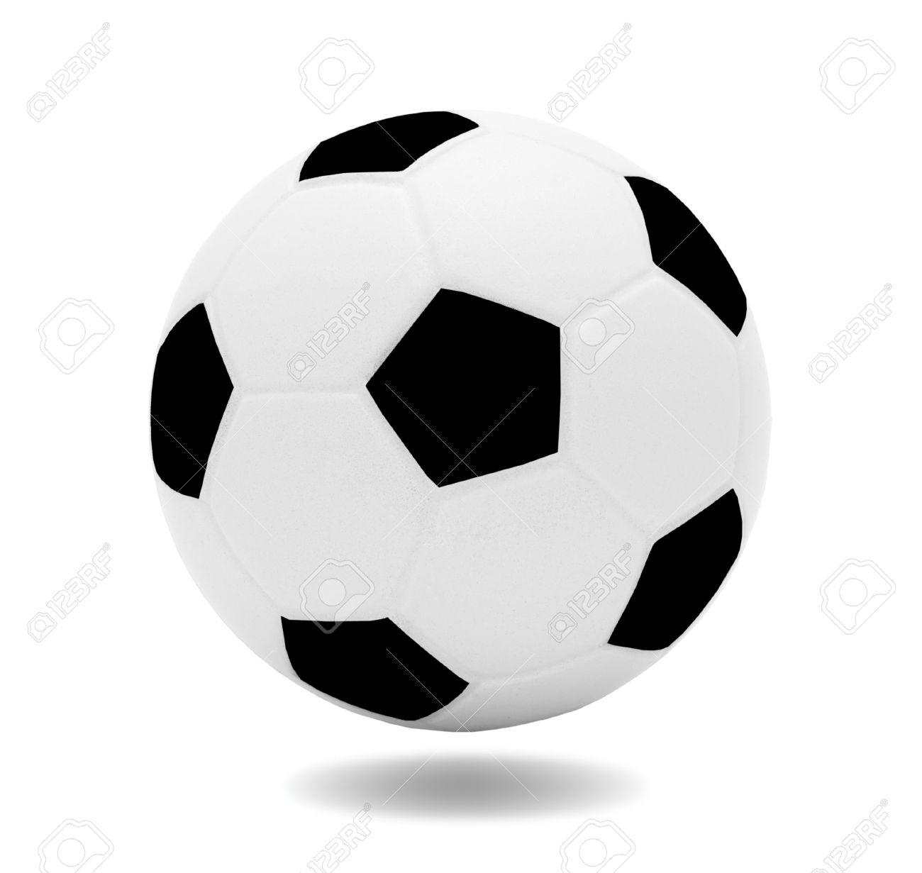 Ballon De Soccer De Noir Et Blanc Modèle 3d Isolé Sur Fond Blanc