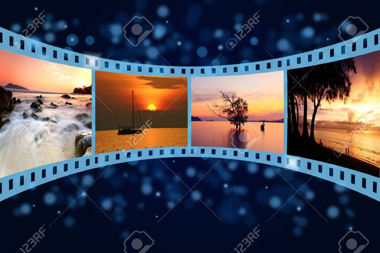 3D film strip with nice pictures of andaman scene Stock Photo - 14734652