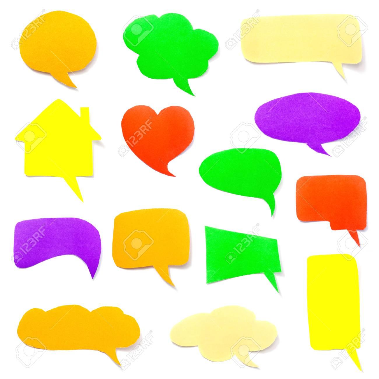 a set of colorful paper speech bubbles Stock Photo - 16991396