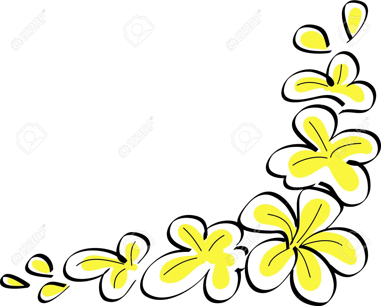 Drawing Tropical Plumeria Flowers Vector Royalty Free Cliparts Vectors And Stock Illustration Image 21424297
