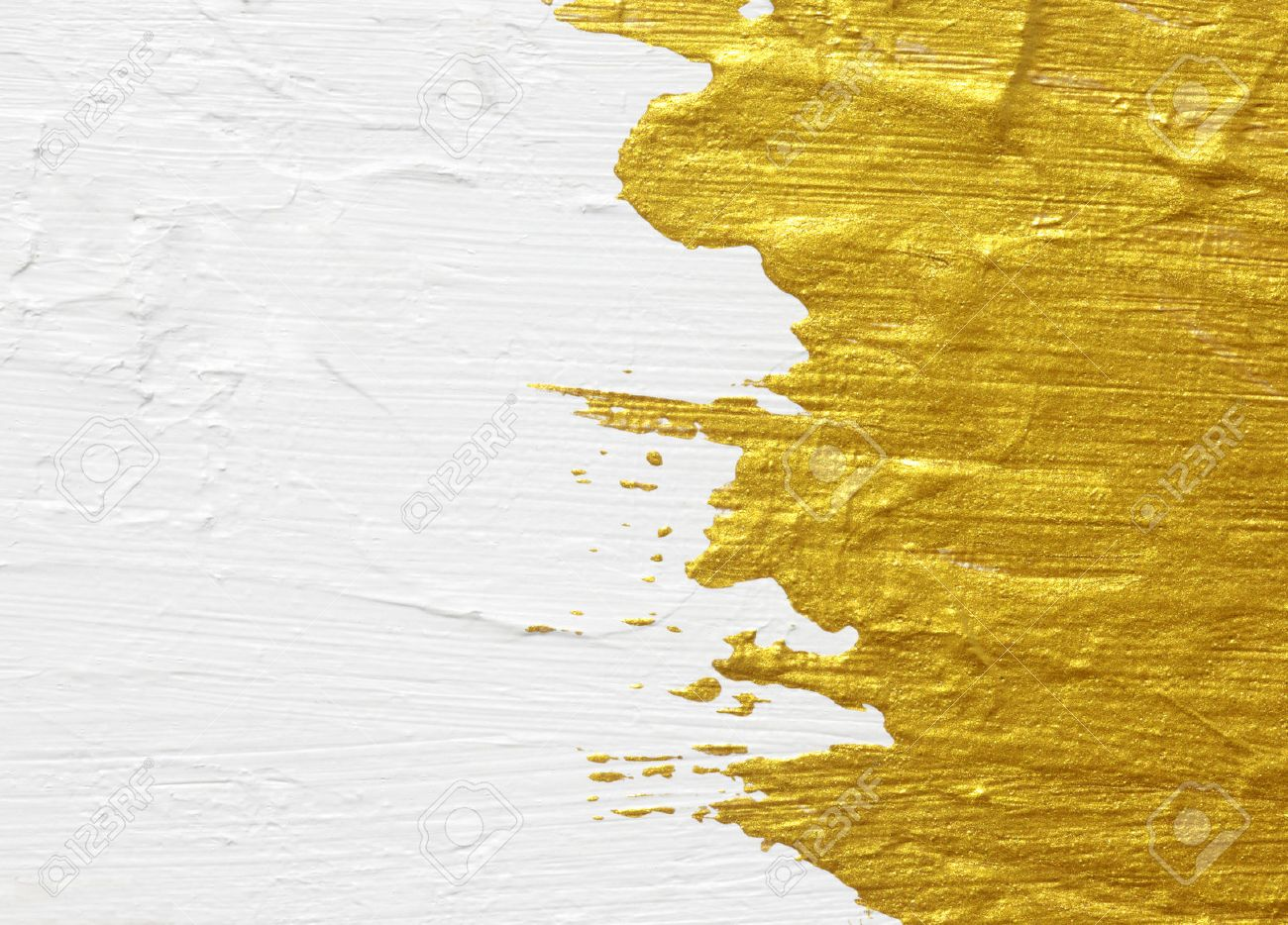 White and gold acrylic textured painting background Stock Photo - 23797204