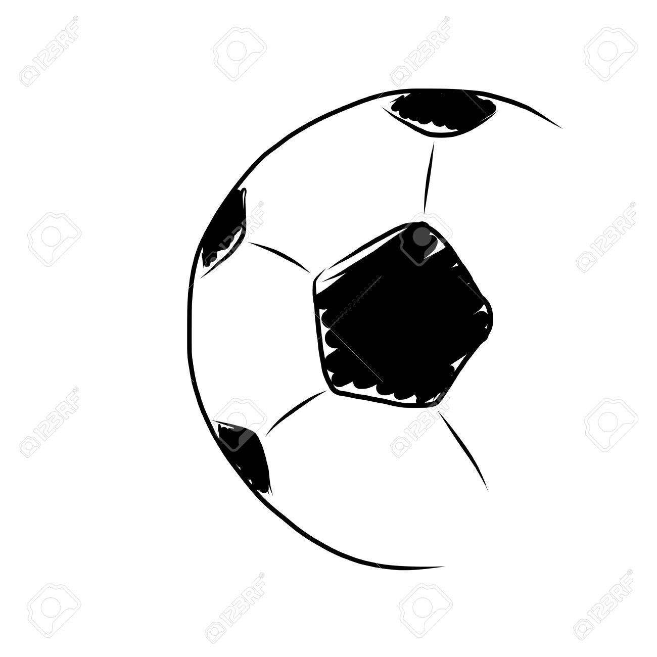 hand draw soccer ball on white stock photo picture and royalty free