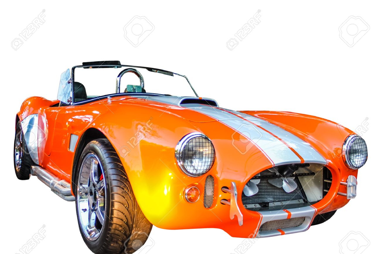 The AC Cobra, sold as the Ford Shelby AC Cobra 427 in the United States on white background. Stock Photo - 41951781