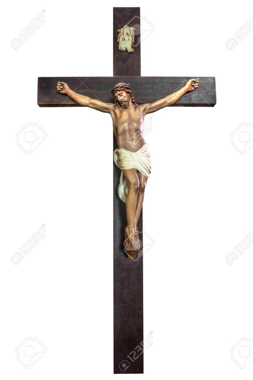 Cross of Jesus Christ isolated on white background. Easter concept. - 42242795
