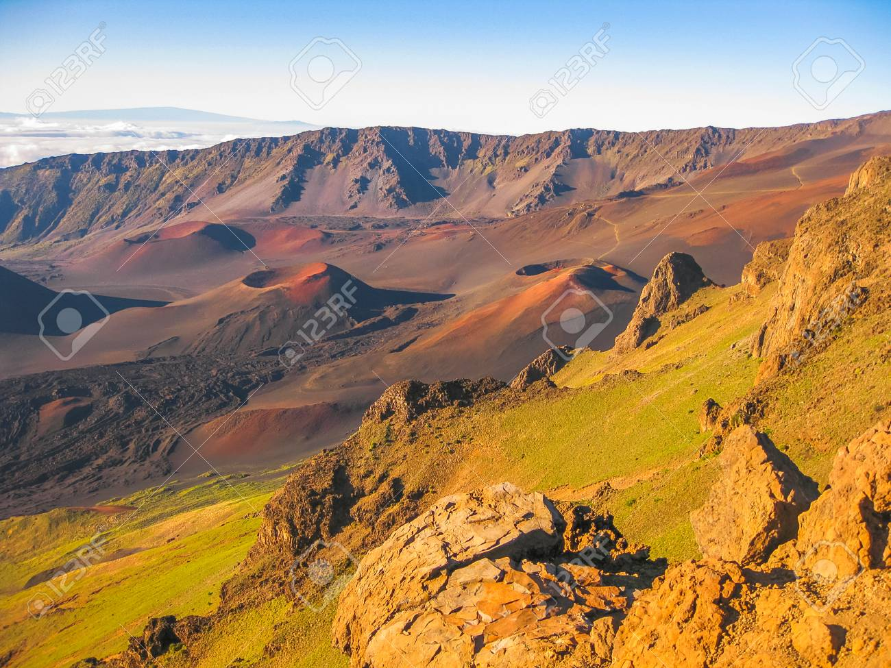 Spectacular Views Of The Sunrise At Haleakala Volcano In The Stock Photo Picture And Royalty Free Image Image 42249851