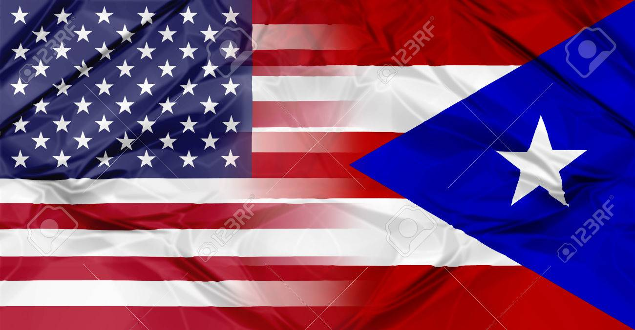 Puerto rico and united states of america flag united in a puerto rico and united states of america flag united in a composition about partnership and cooperation biocorpaavc Image collections