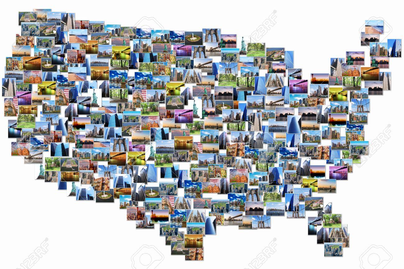 Amerika Karte New York.Stock Photo