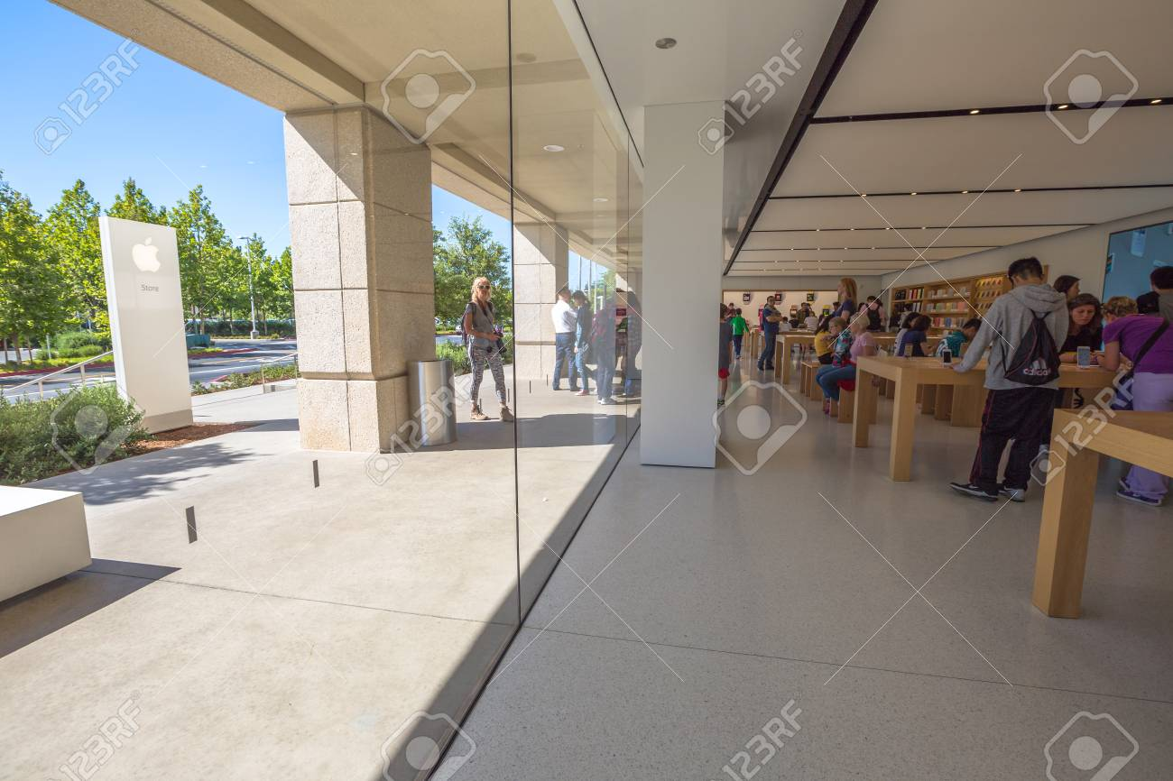 Cupertino, CA, USA - August 15, 2016: people inside the popular