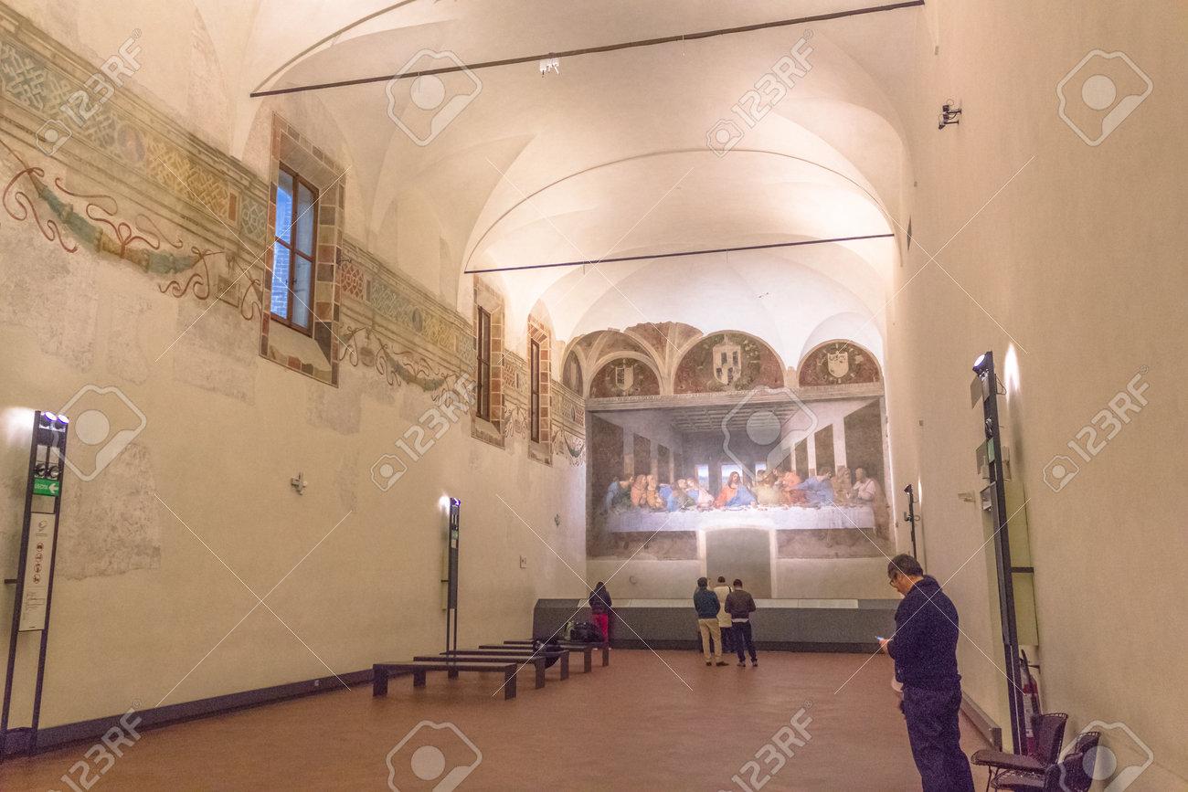 Milán Italia 15 De Noviembre 2016 Refectorio De Santa Maria Delle Grazie En Milán En Italia El Anfitrión De La última Cena Obra Maestra De Finales De Los Años 1490 Después