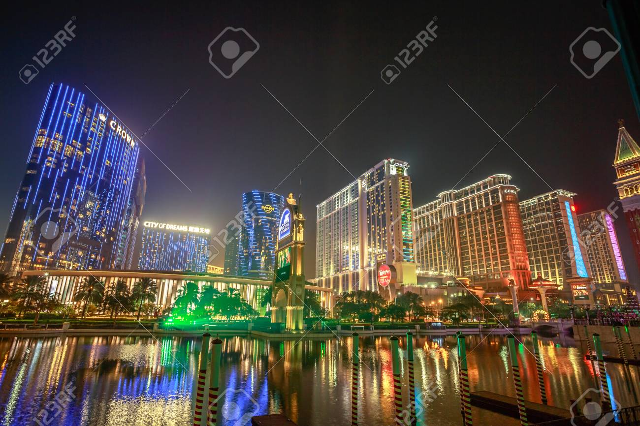 Cotai Strip Macau Stock Photo,...