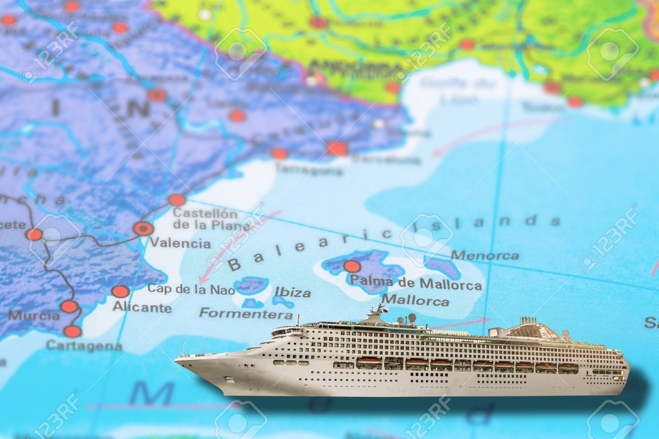 Picture of: Ibiza Formentera Valencia In Spain Cruise Ship Travel On Colorful Stock Photo Picture And Royalty Free Image Image 79823273
