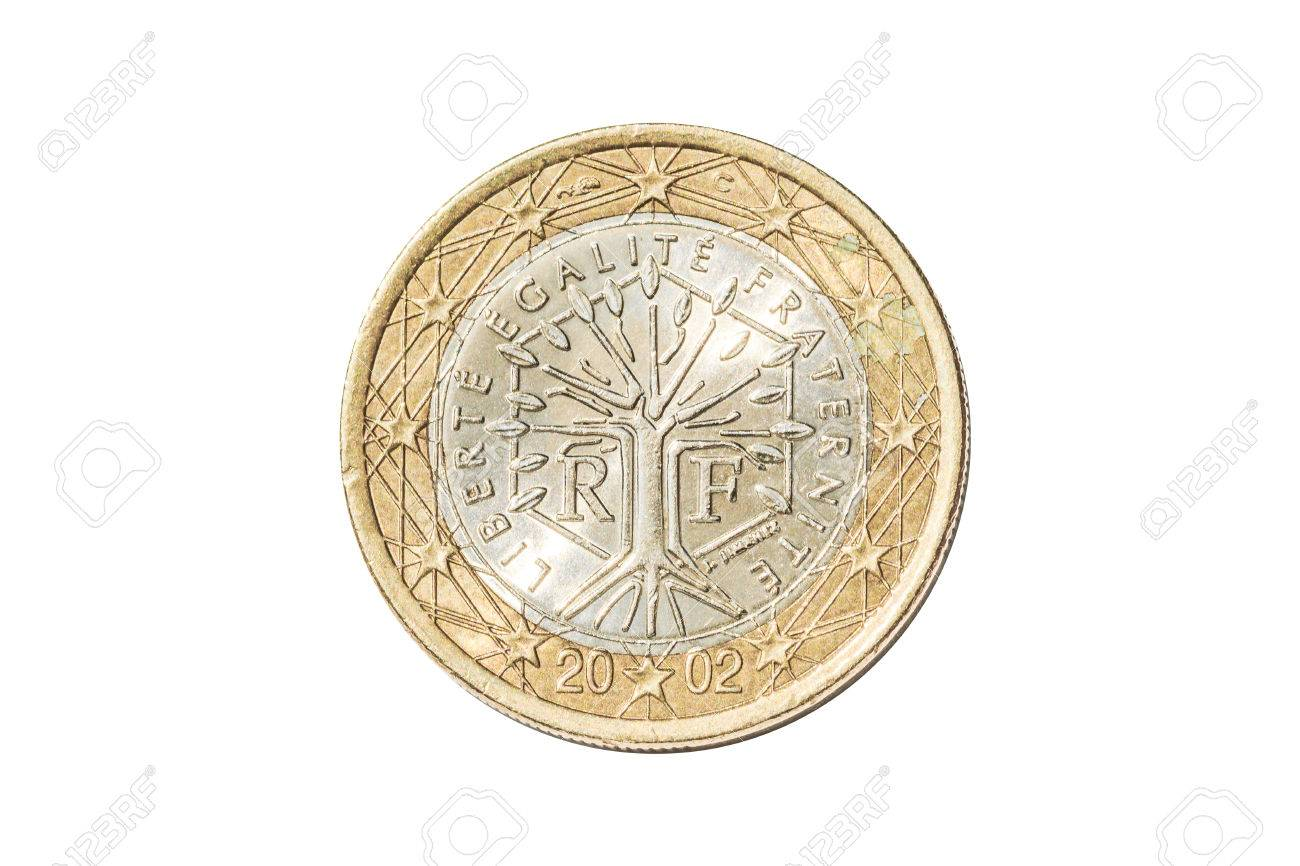 French coin of one euro closeup with tree symbol with the motto french coin of one euro closeup with tree symbol with the motto liberte egalite fraternite of biocorpaavc
