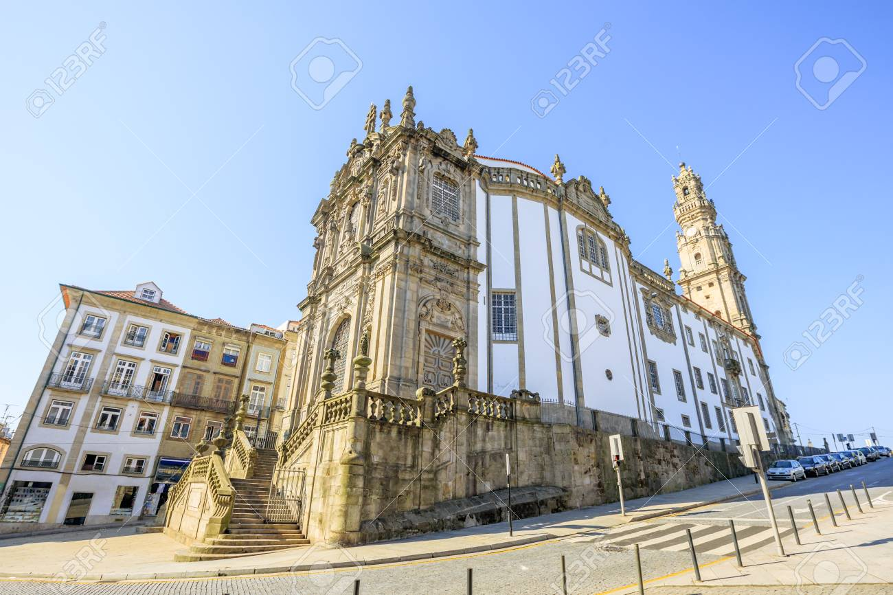 Awesome Side View Of Majestic Baroque Church Of Clerigos Or Igreja Dos Clerigos, In  Portuguese, Photo