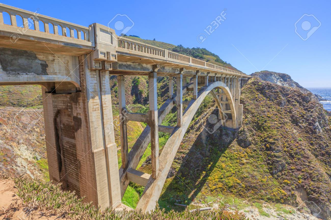 Prospective view of iconic bixby bridge on pacific coast highway prospective view of iconic bixby bridge on pacific coast highway number 1 in california united publicscrutiny Image collections