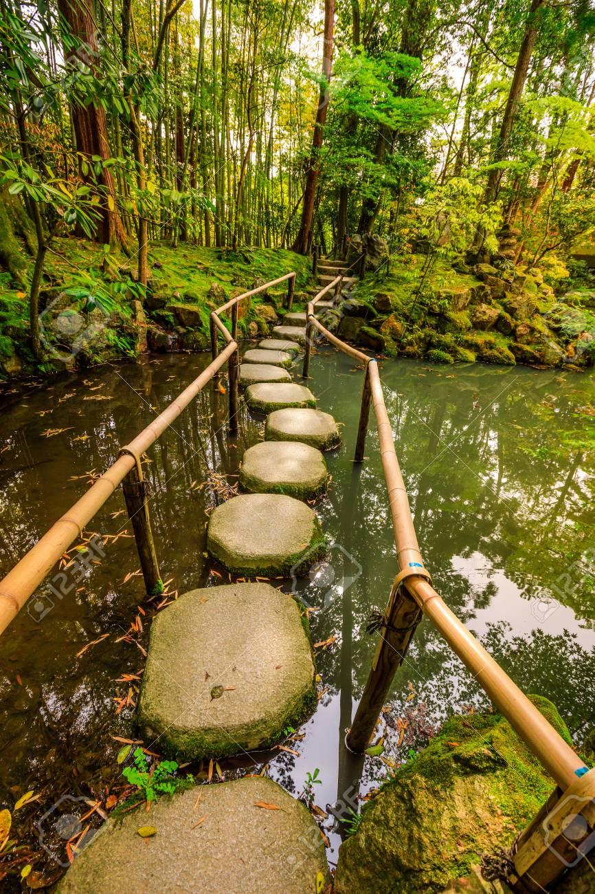 Stepping Stones In Tenjuan Garden At Nanzen-ji, A Zen Buddhist ...