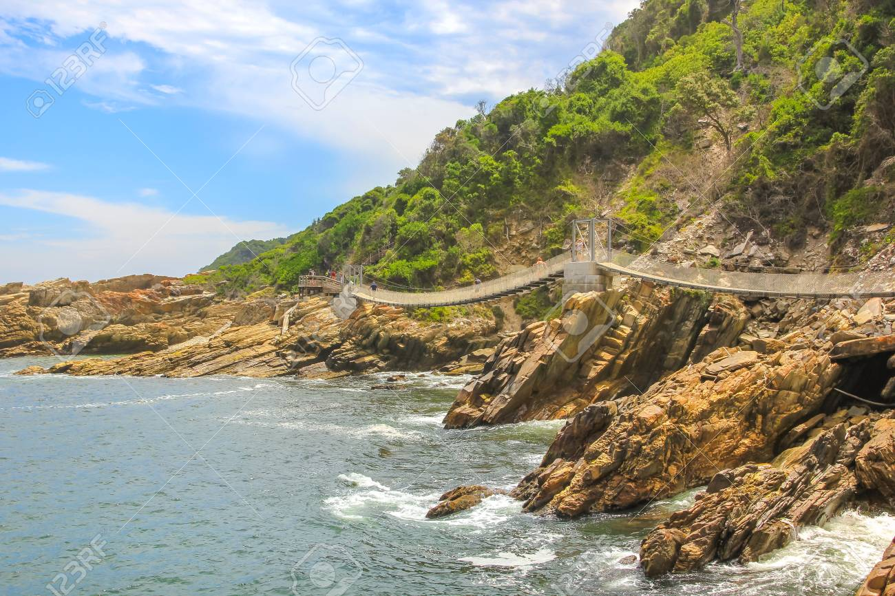 Suspended Bridges During Trekking Route Over Storms River Mouth ...