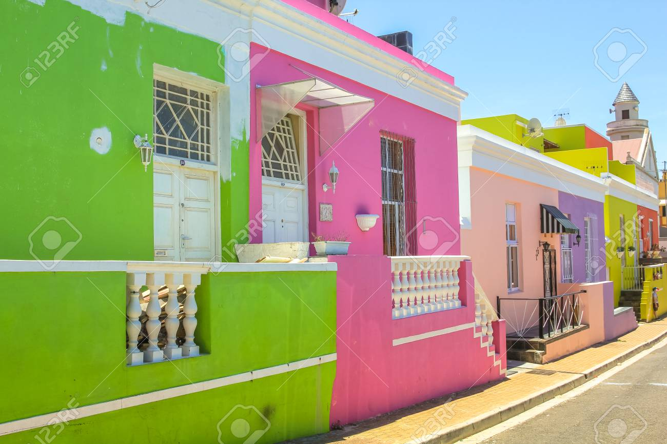 Cape Town, South Africa - January 11, 2014: The Colorful Houses ...