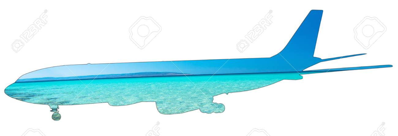 Pictures Of Crystalline Tropical Caribbean Sea On Silhouette Of