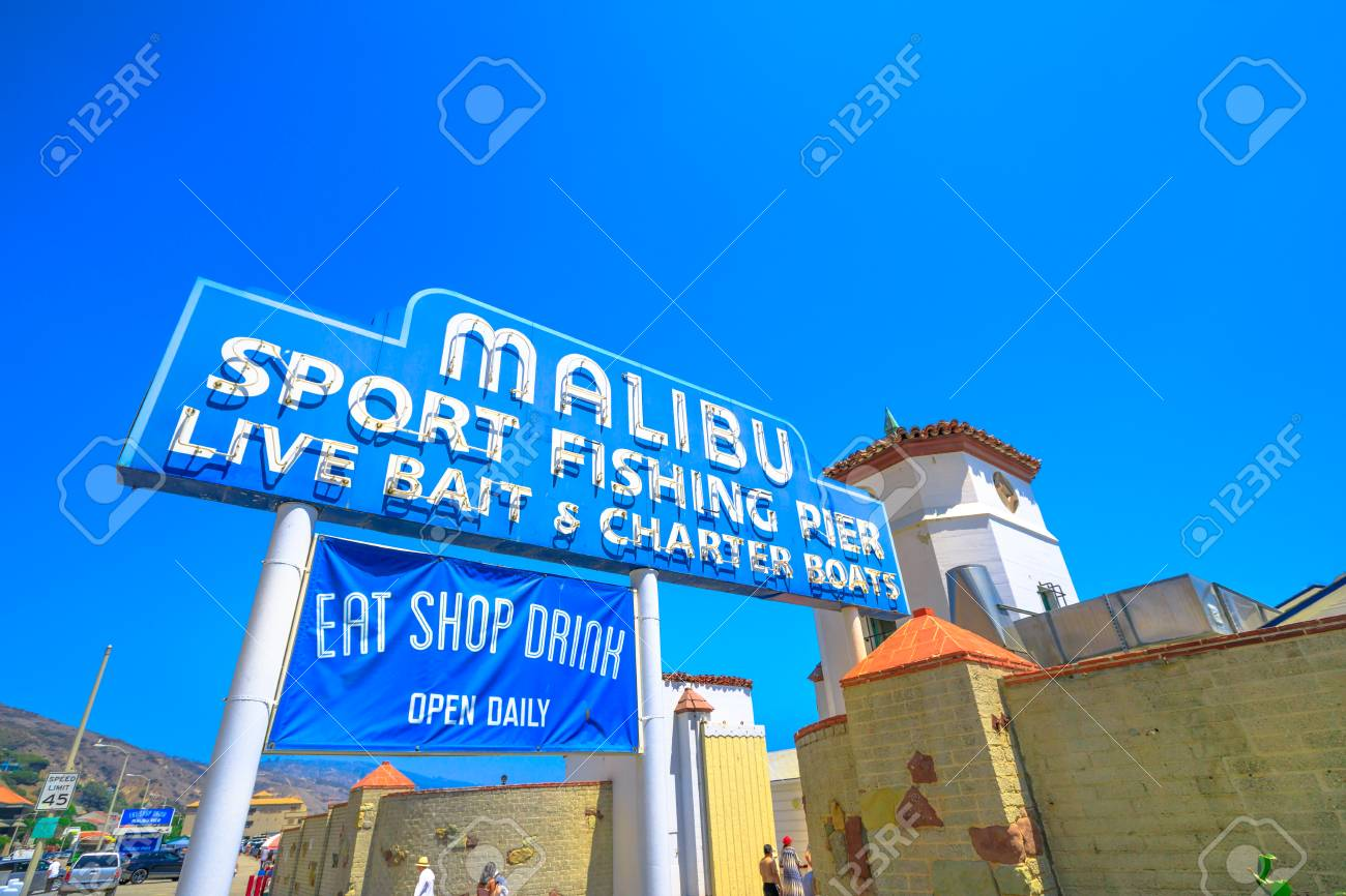 Malibu, California, United States - August 7, 2018: historic