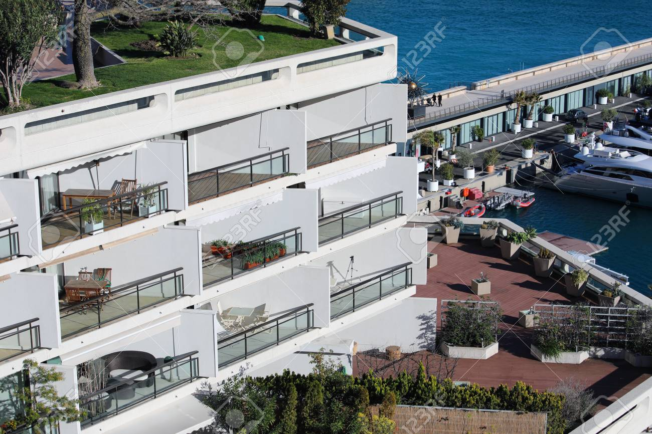 Monte Carlo Monaco March 17 2018 Luxury Seaview Balcony