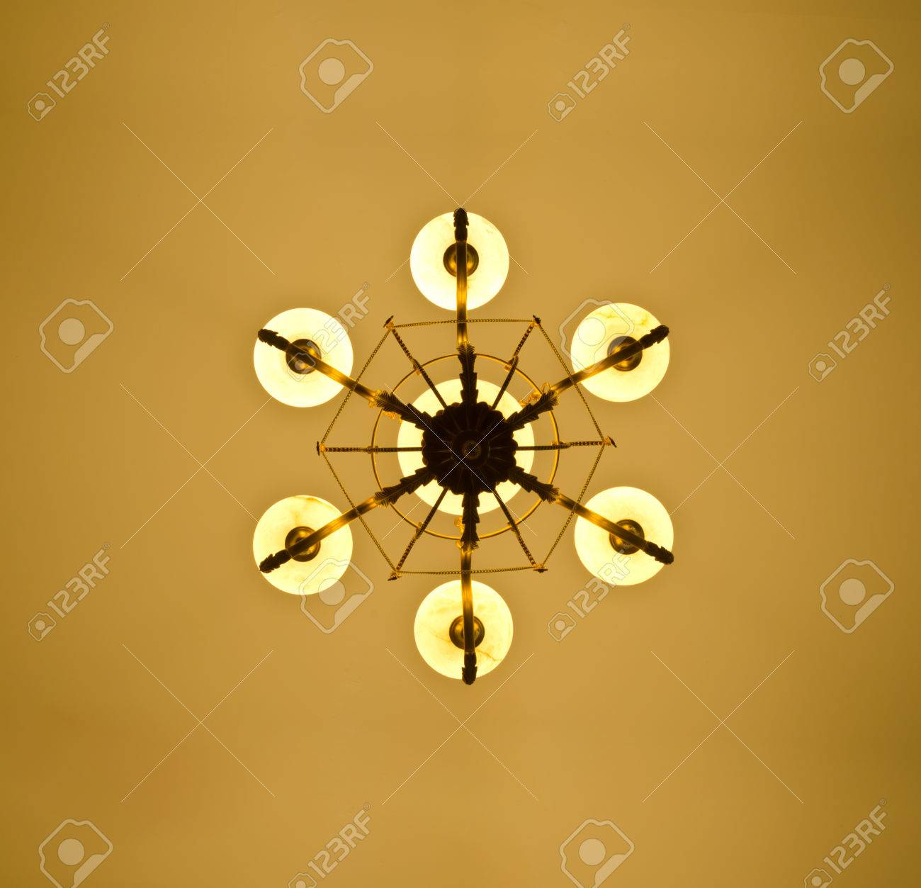 online store 23f5b 966bb bottom view under chandelier in light brown tone