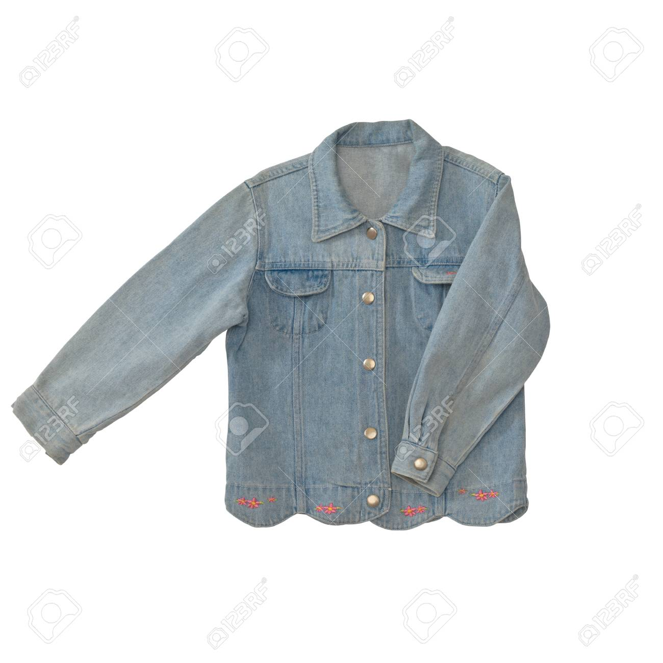1f37077f6092 Blue Jeans Jacket For Kid Isolated On White Background With Working ...