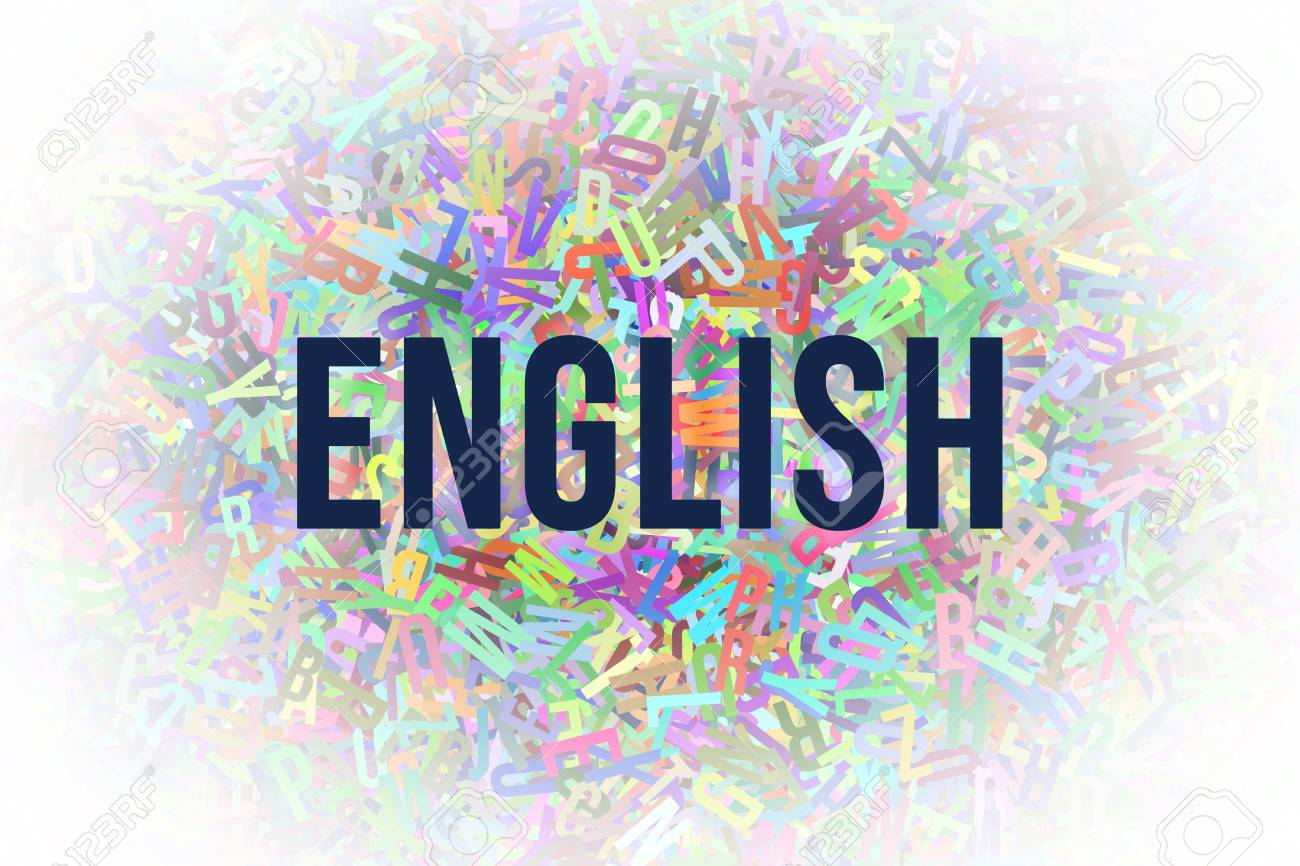 English Colorful Alphabets Letters From A To Z As Background