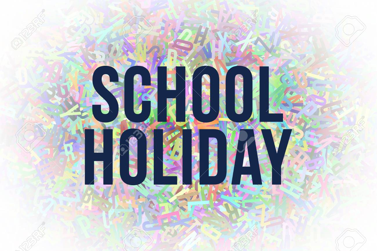 School Holiday Colorful Alphabets Letters From A To Z As Background
