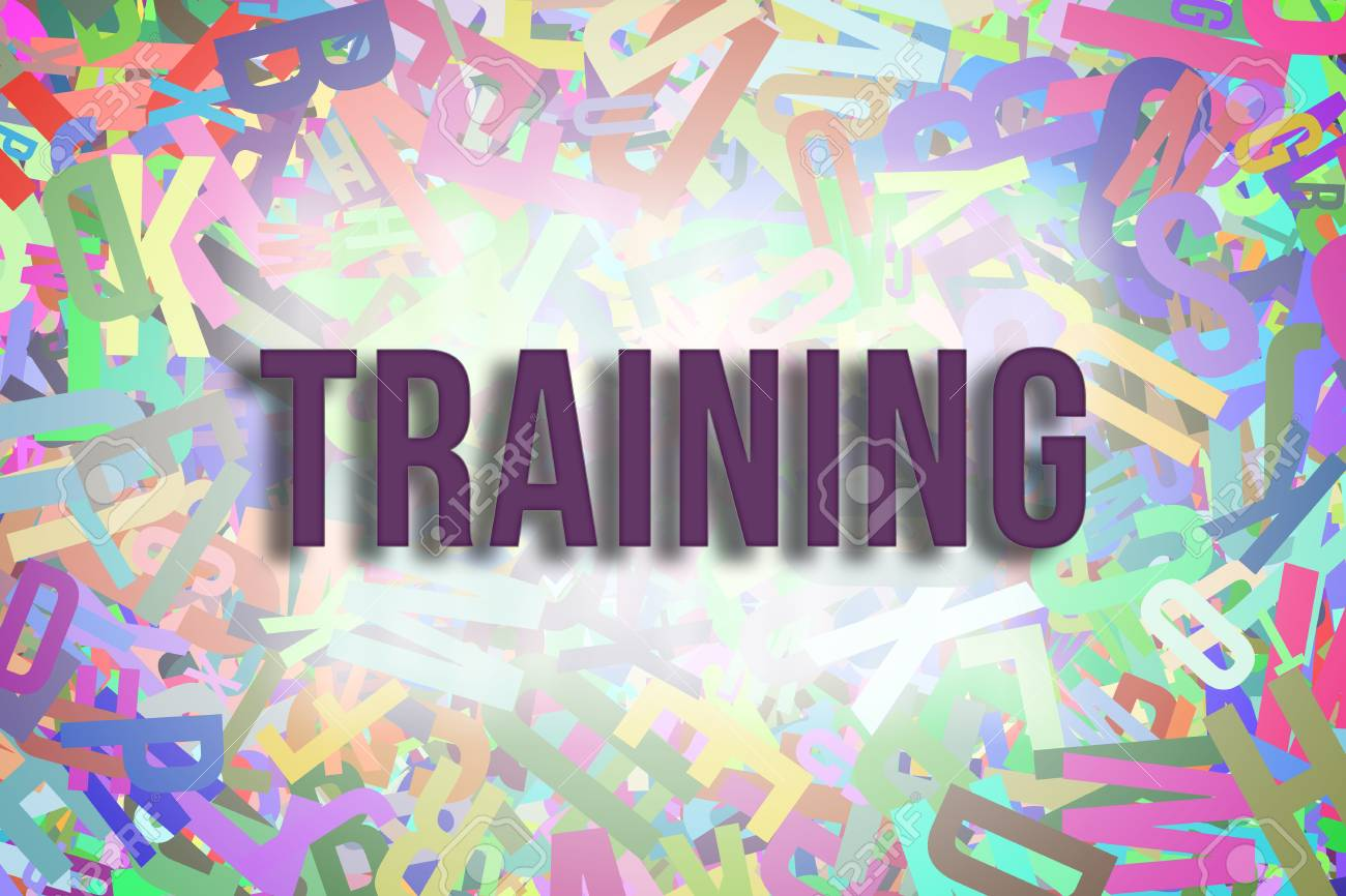 Training Colorful Alphabets Letters From A To Z As Background