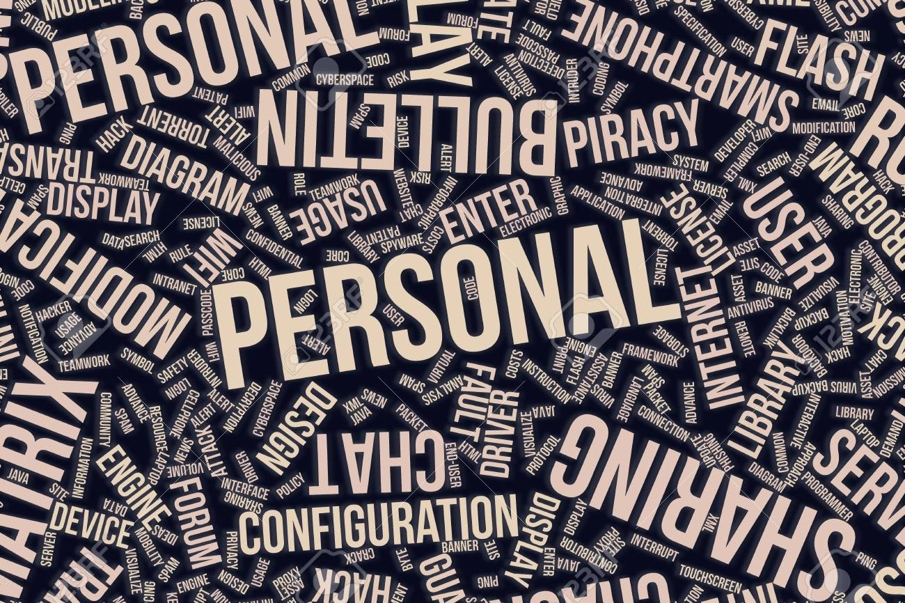 Personal It Information Technology Conceptual Word Cloud For Stock Photo Picture And Royalty Free Image Image 97381182