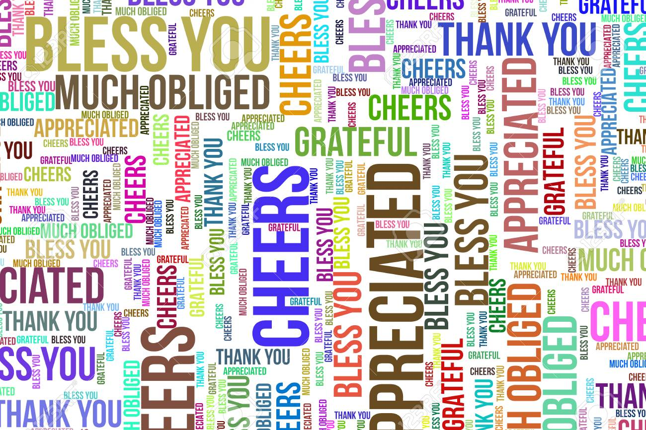 Thank You, word cloud for web page, graphic design, catalog,