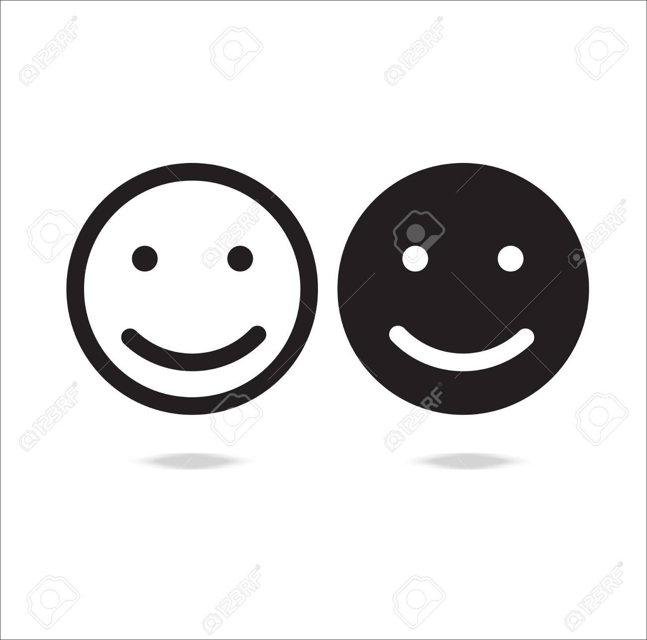 Smile Icon Happy Face Symbol Vector Illustration On White