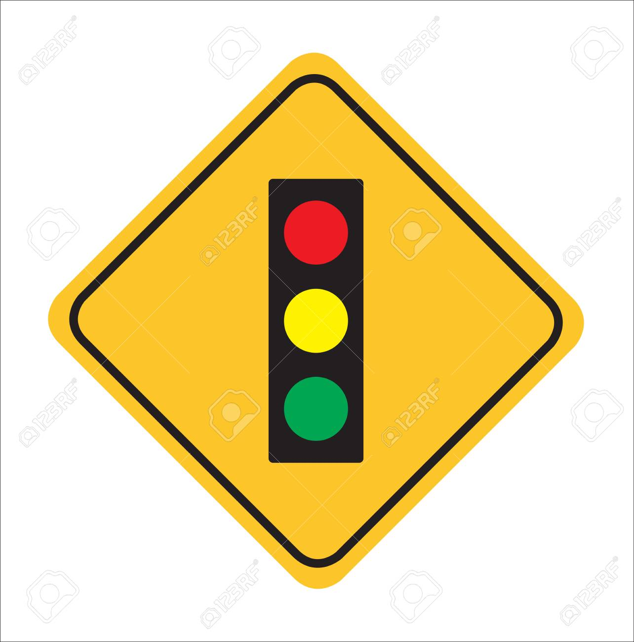 Traffic sign, Traffic light ahead sign background,vactor Illustration - 107863029