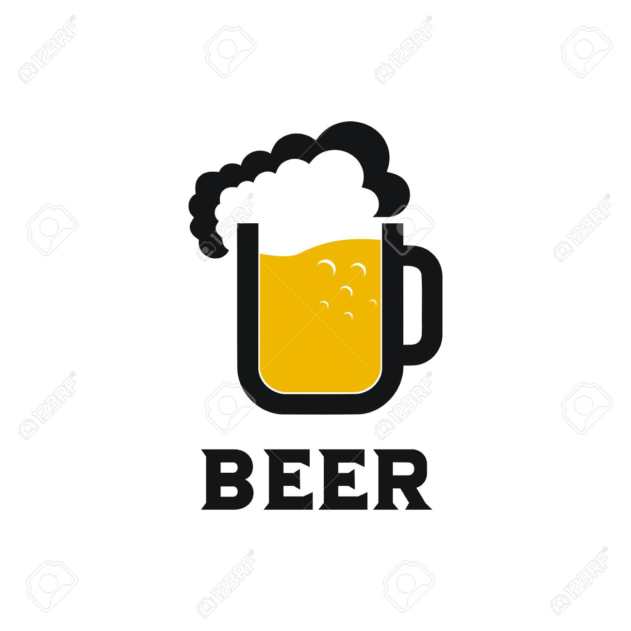 Beer Mug Logo Vector Design Illustration Royalty Free Cliparts Vectors And Stock Illustration Image 121094408