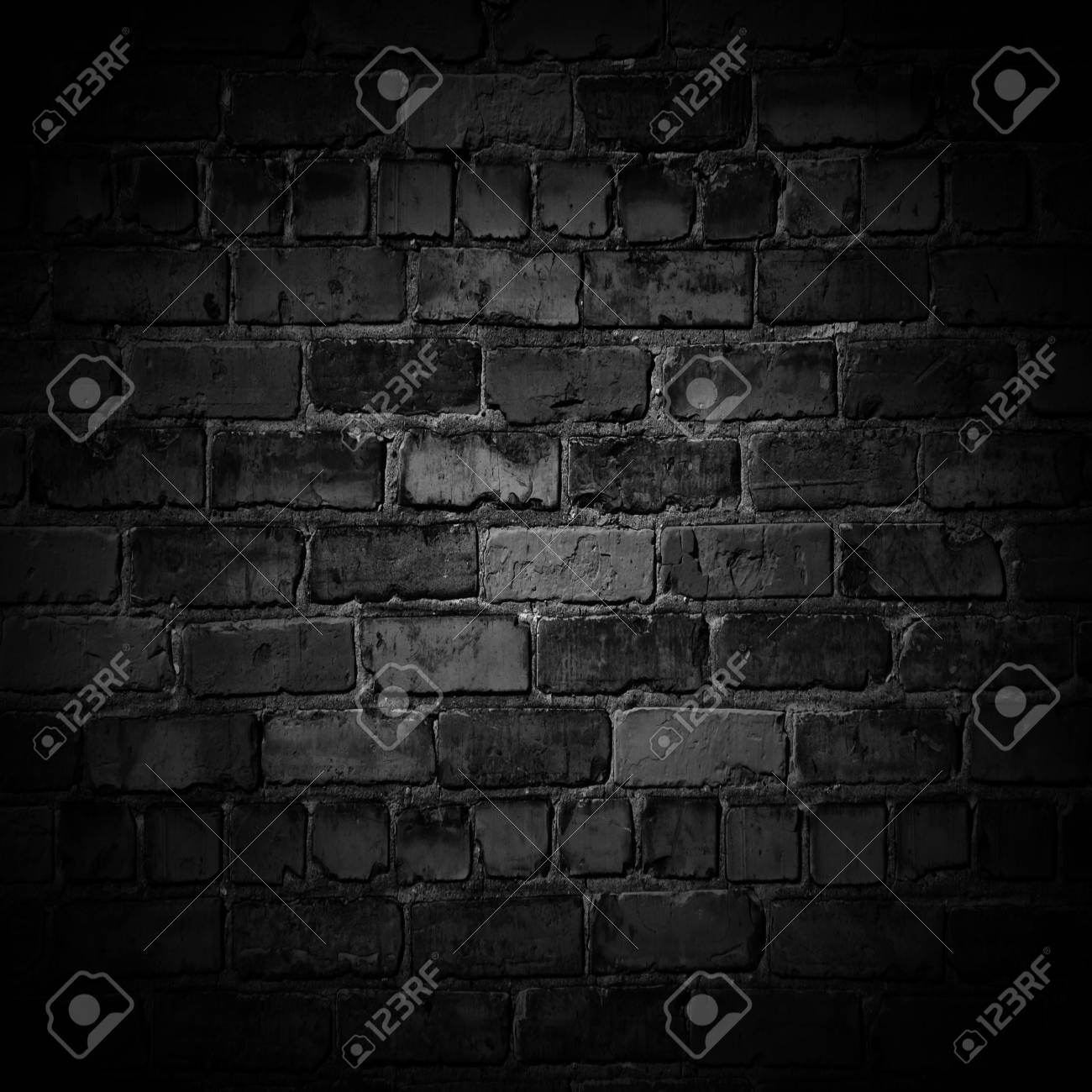 Old Black Wall Background Texture With Border Black Vignette