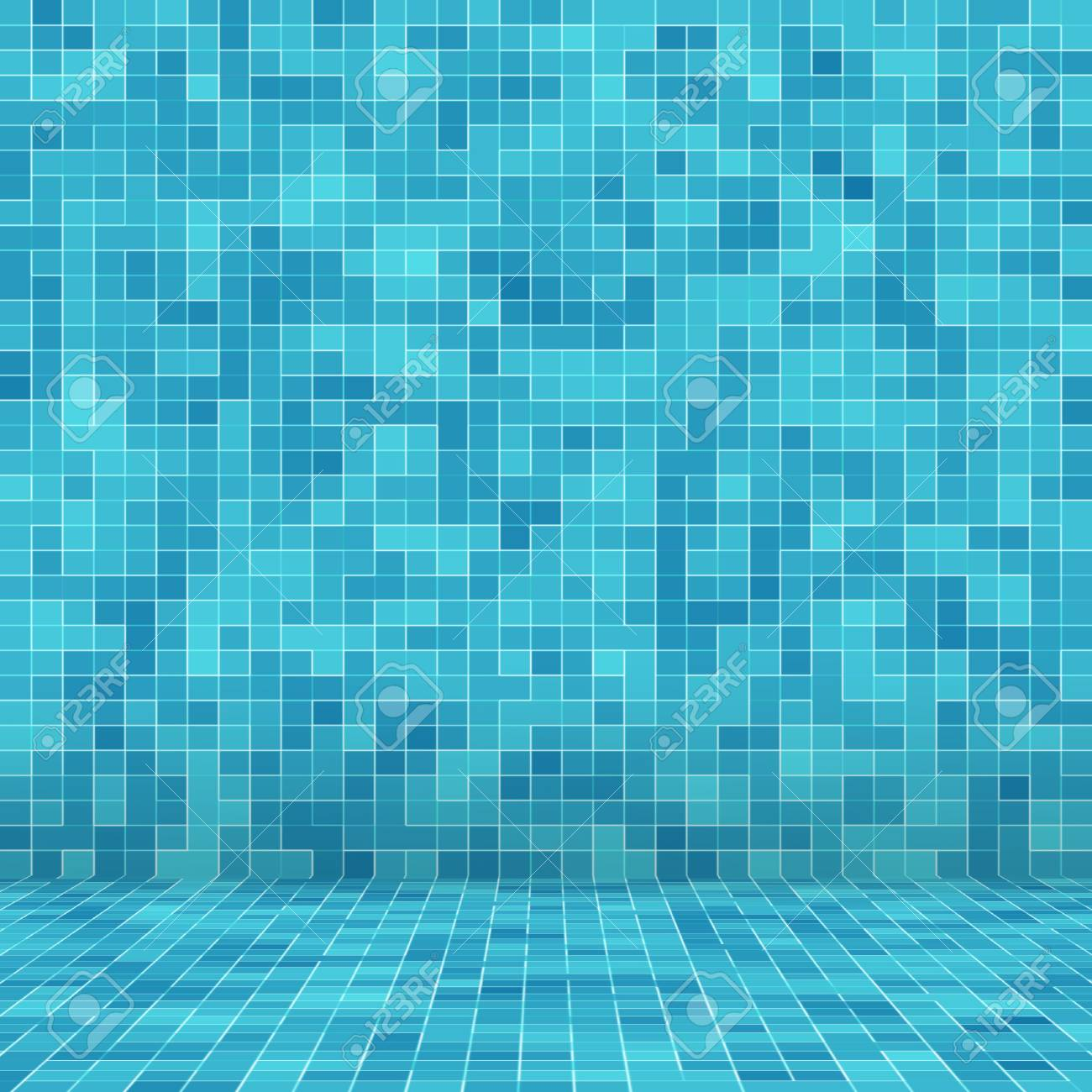 Texture Swimming pool Mosaic tile background. Wallpaper, banner,..