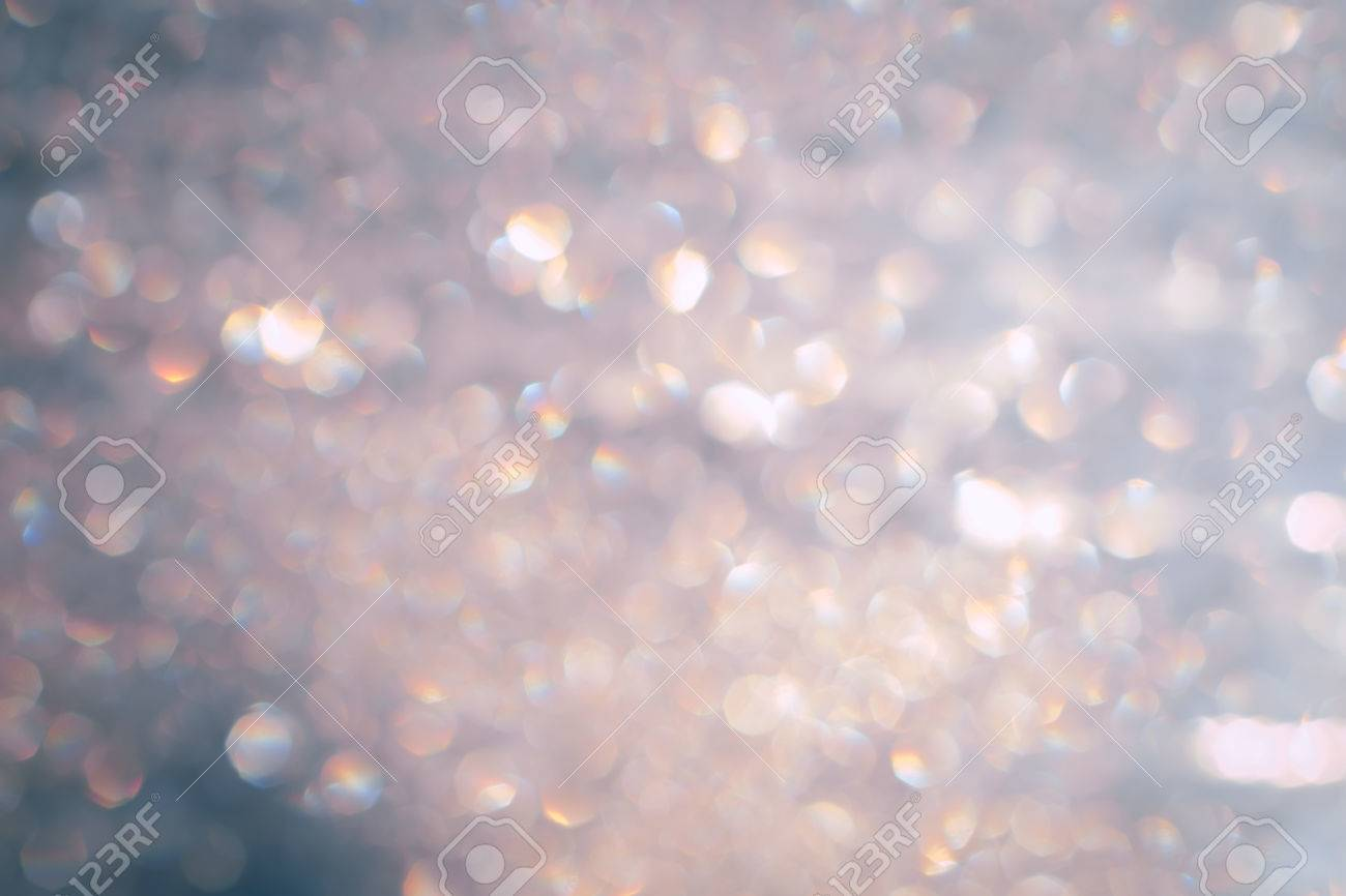 Christmas Lights Bokeh Background Pastel Pink With Silver Specks ...