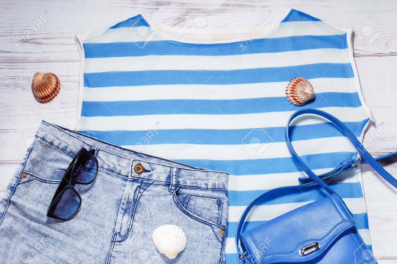 bcbe7af6911 Stock Photo - Woman summer clothes