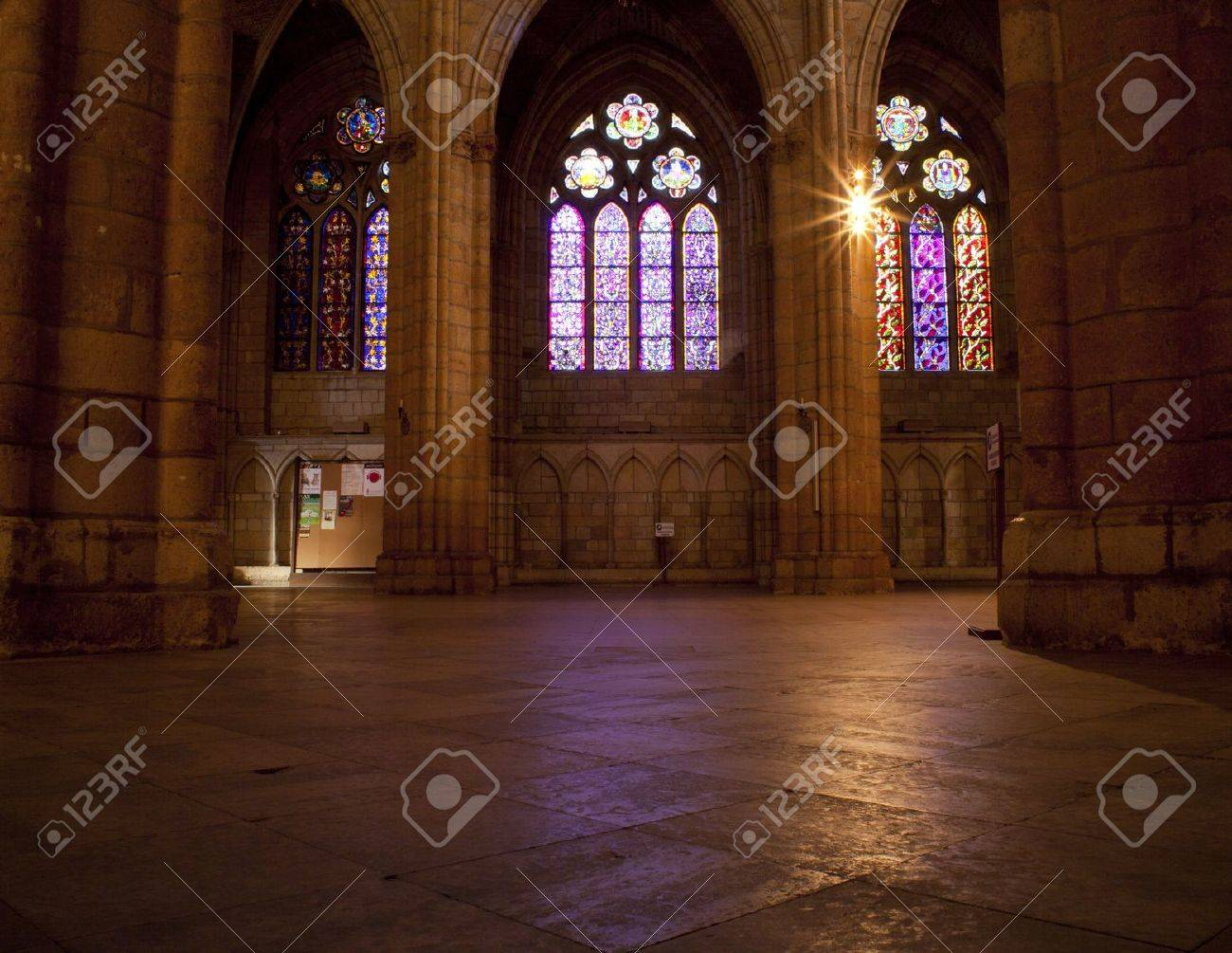 Interior of the Leon's cathedral Stock Photo - 9813718