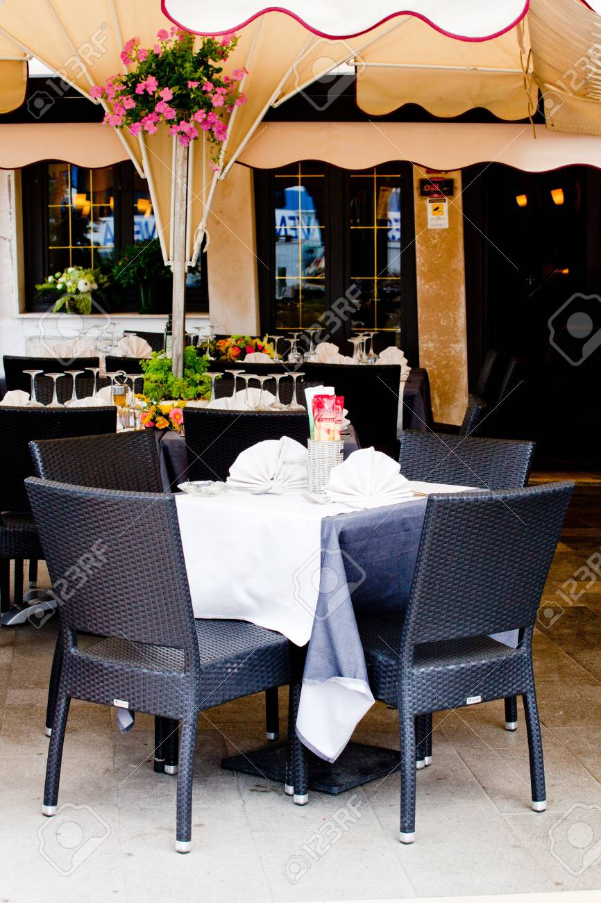 Tables and chairs in a restaurant Stock Photo - 10004466