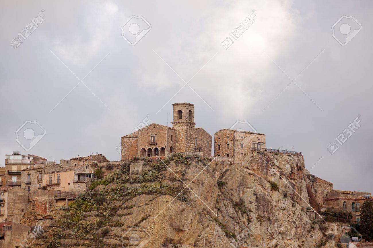 Church of SS. Salvatore, Nicosia - Sicily Stock Photo - 10585186