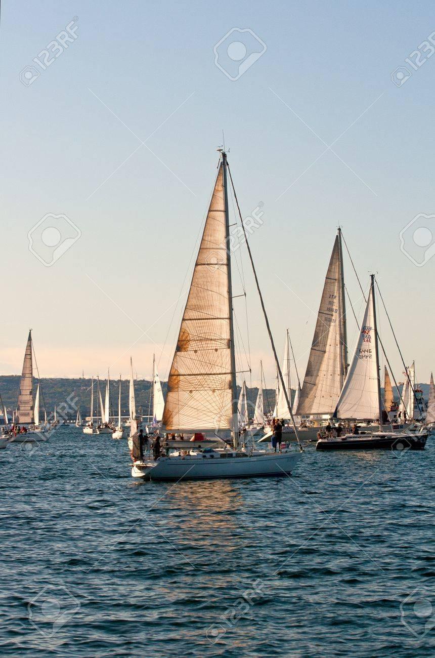 Trieste Barcolana,  2009 - The Trieste regatta  - Italy - http://www.barcolana.it/ Stock Photo - 13916817