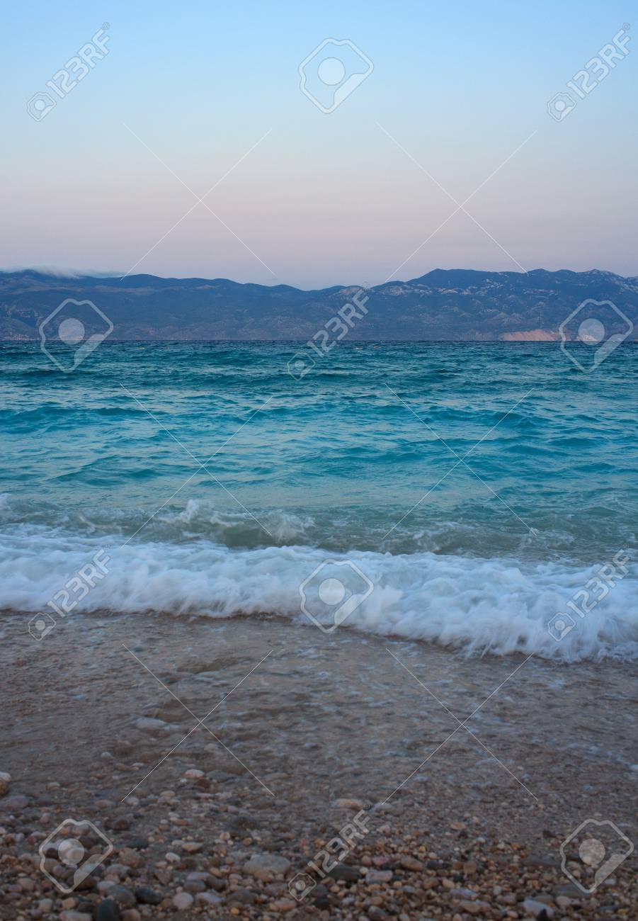 View of Baska, Krk island in Dalmatia - Croatia Stock Photo - 14580603